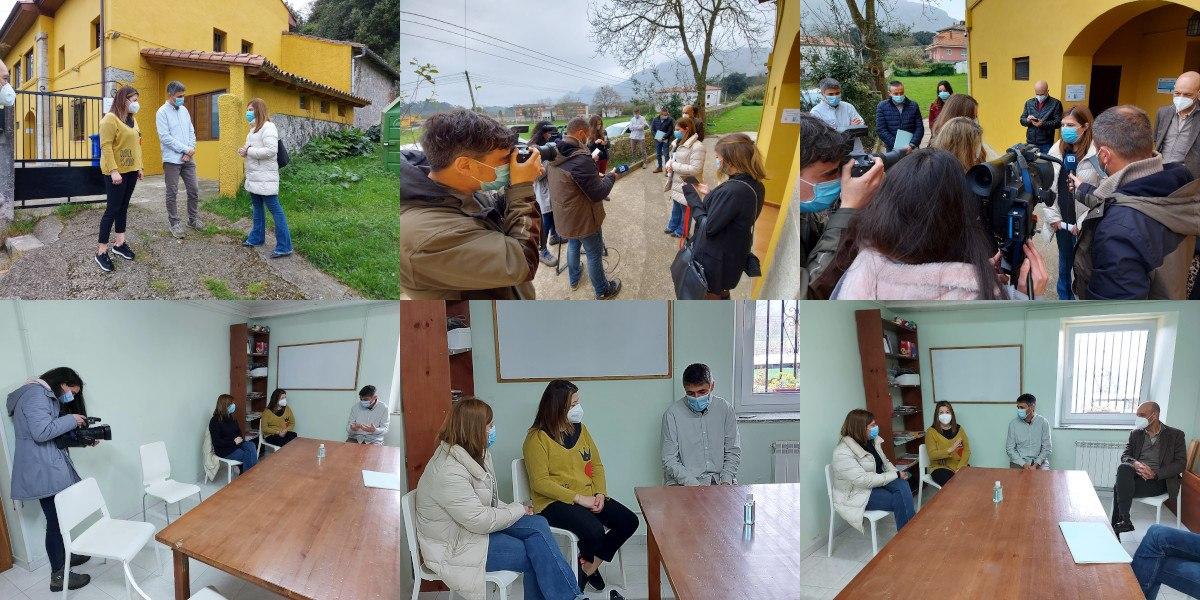 Visita de Gimena Llamedo y Ángel Morales